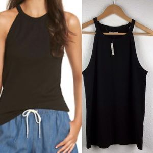 Madewell Time-off  Black Tank Top Size Xl